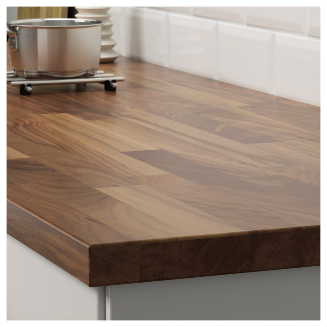 Karlby Countertop Walnut Veneer 98x1 1 2 Karlby Countertop Replacing Kitchen Countertops Butcher Block Countertops