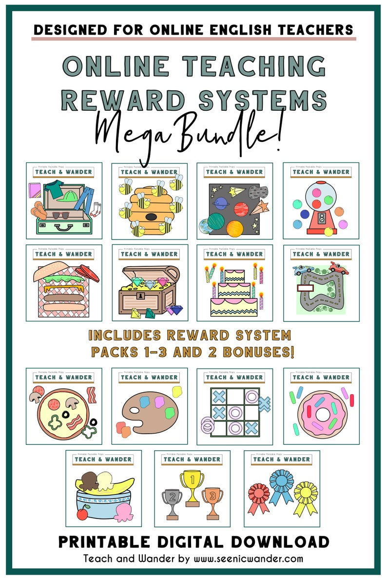 photograph relating to Vipkid Reward System Printable identify MEGA Added benefits Package deal - Gain Courses 1 - 3 and Bonuses (14