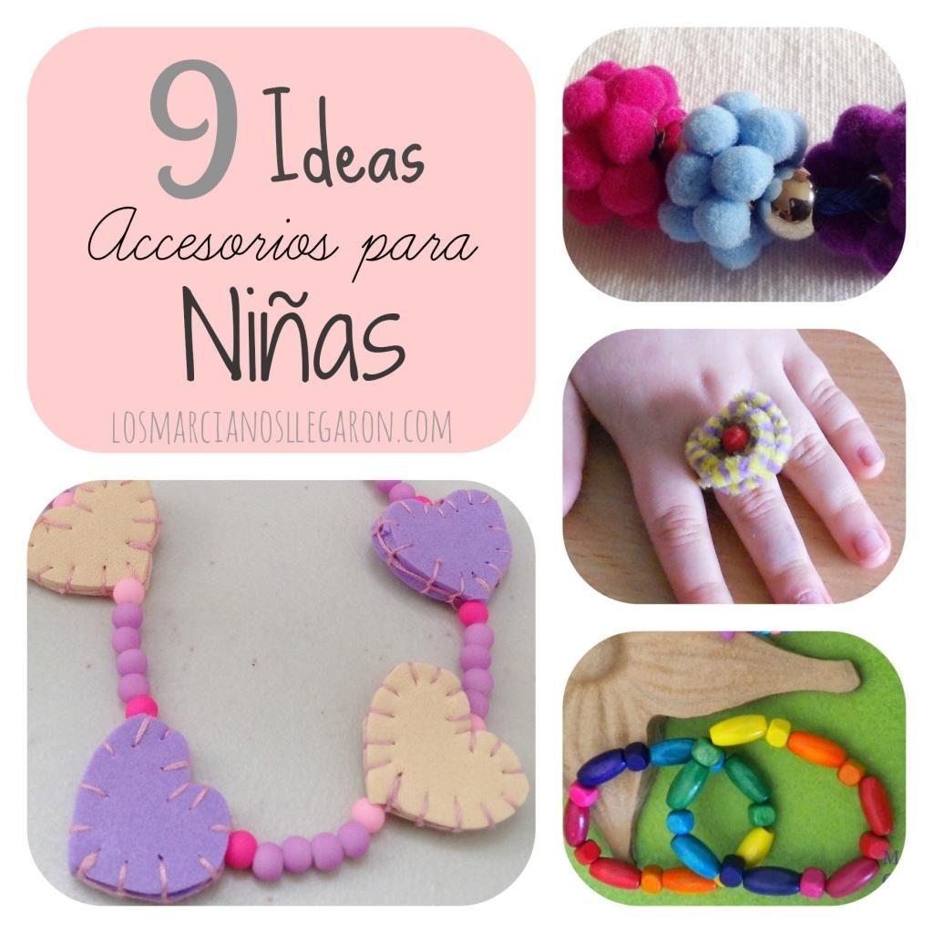 9 ideas de accesorios para niñas. ¡Bonitos y fáciles!