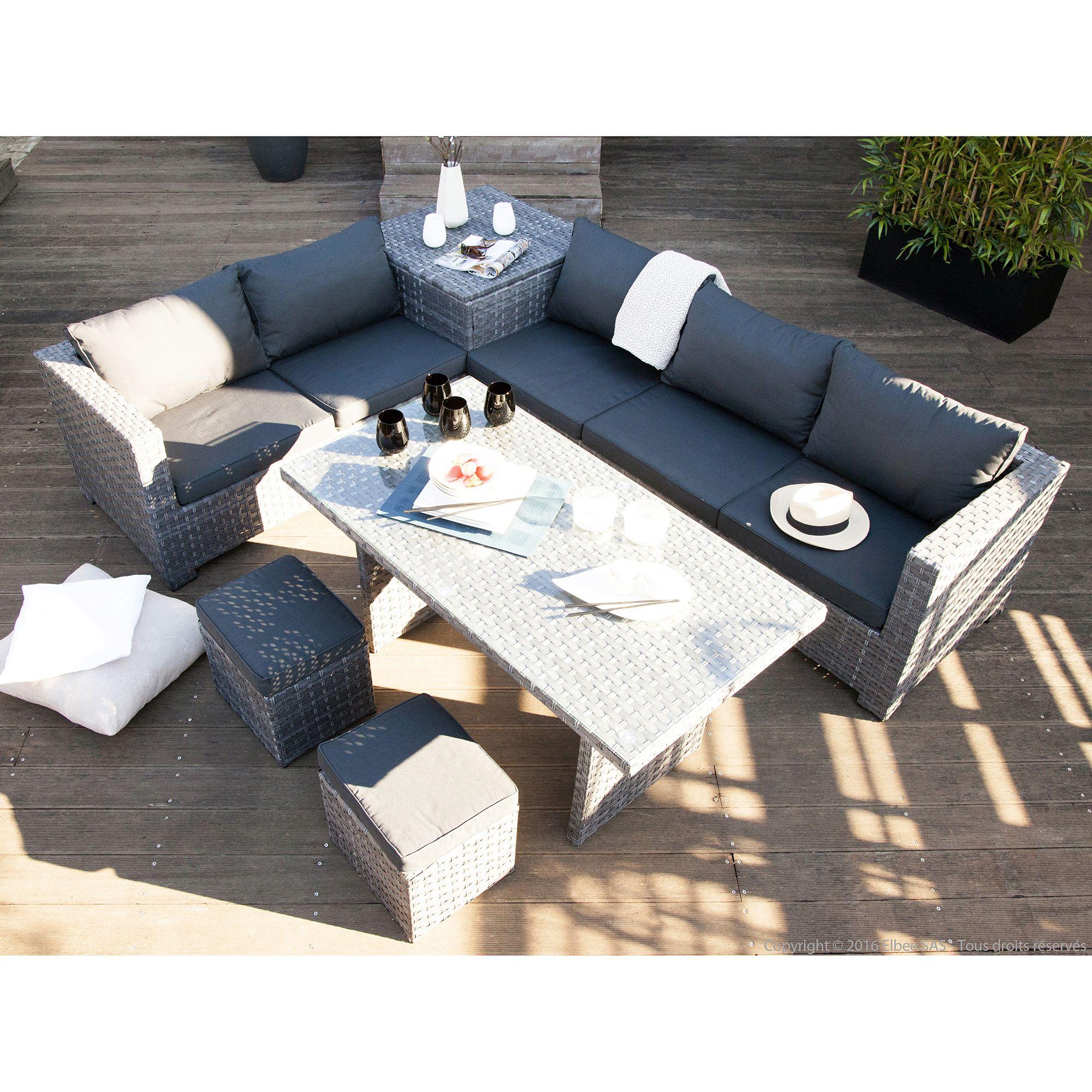 Impressionnant Salon De Jardin Avec Table Haute Decoration