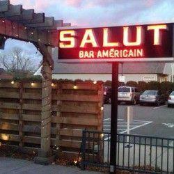 Salut Bar Americain's patio has ample sunlight