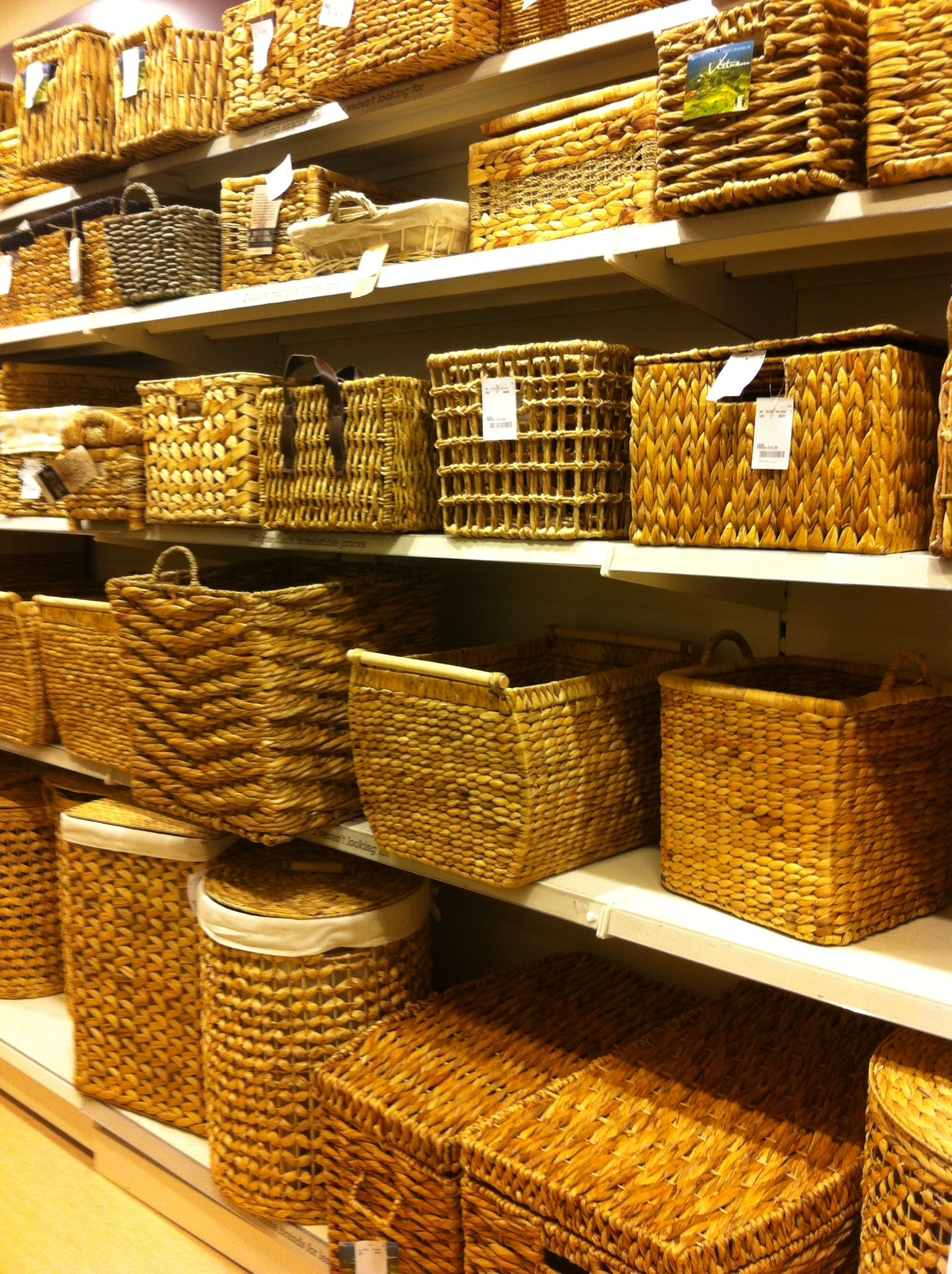 Can't go wrong with wicker baskets... TKMaxx / Homesense