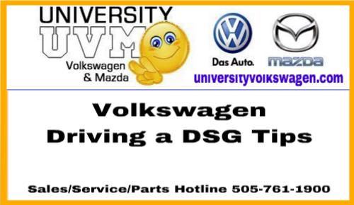 Driving A DSG Tips courtesy of University #Volkswagen #Albuquerque