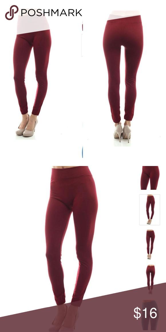 e180a3f911a Plus Size Fleece Leggings Size 10-18 (NWT) High rise full length stretchable