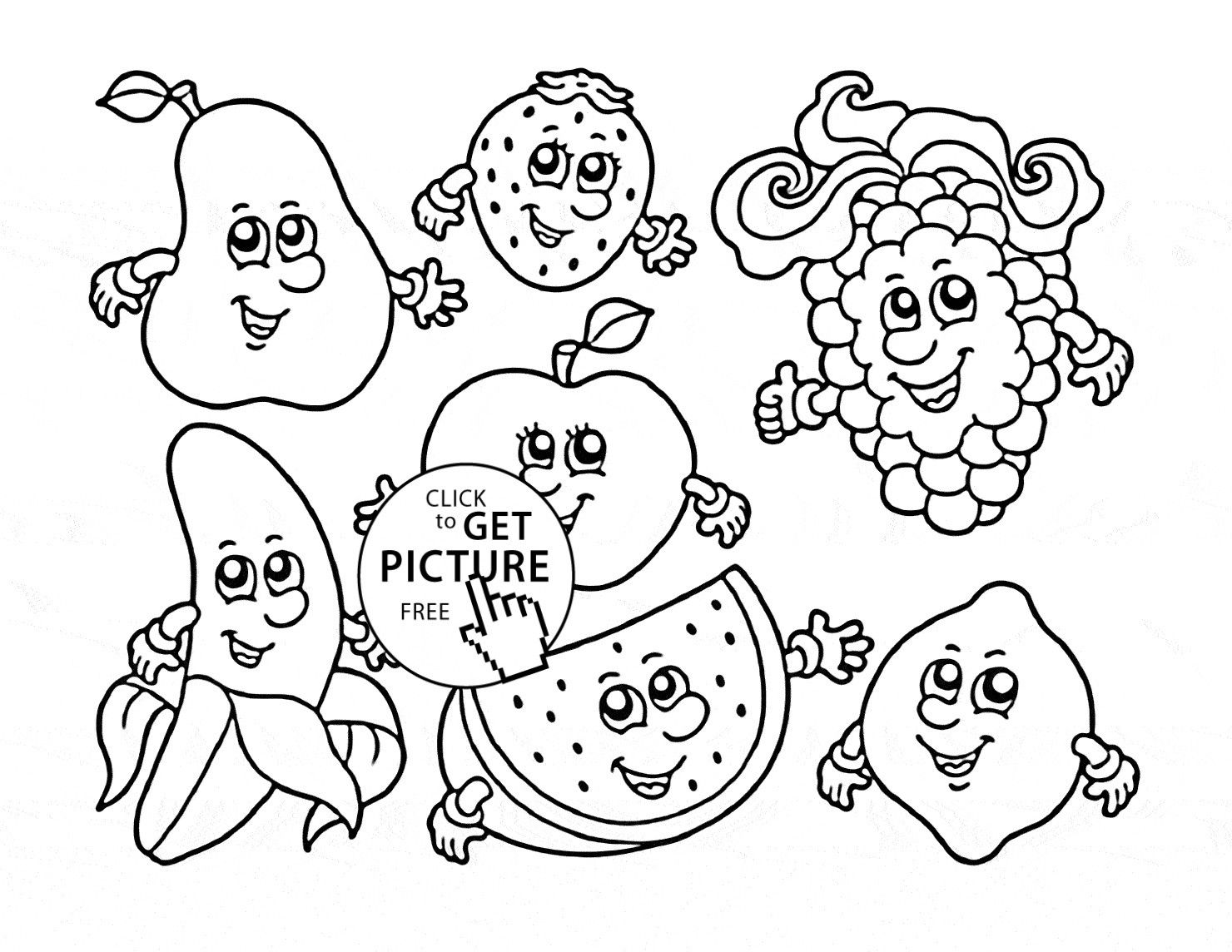 Fruits And Vegetables Coloring Pages Cartoon Fruits And Vegetables Coloring Pages Gallery 11 T On Fruit Albanysinsanity Com Fruit Coloring Pages Cartoon Coloring Pages Vegetable Coloring Pages