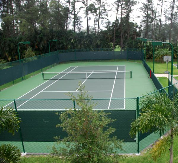 Backyard Tennis Court tennis tennis tennis - imagine this in your backyard! | tennis