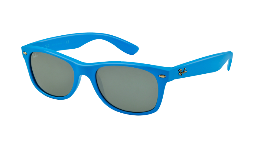Ray-Ban | RB2132 New Wayfarer ? Sunglasses | Frame Color: Shiny Azure, Lens Color: Crystal Green Mirror | Ray-Ban | Pinterest | Cats, It is and Sunglasses
