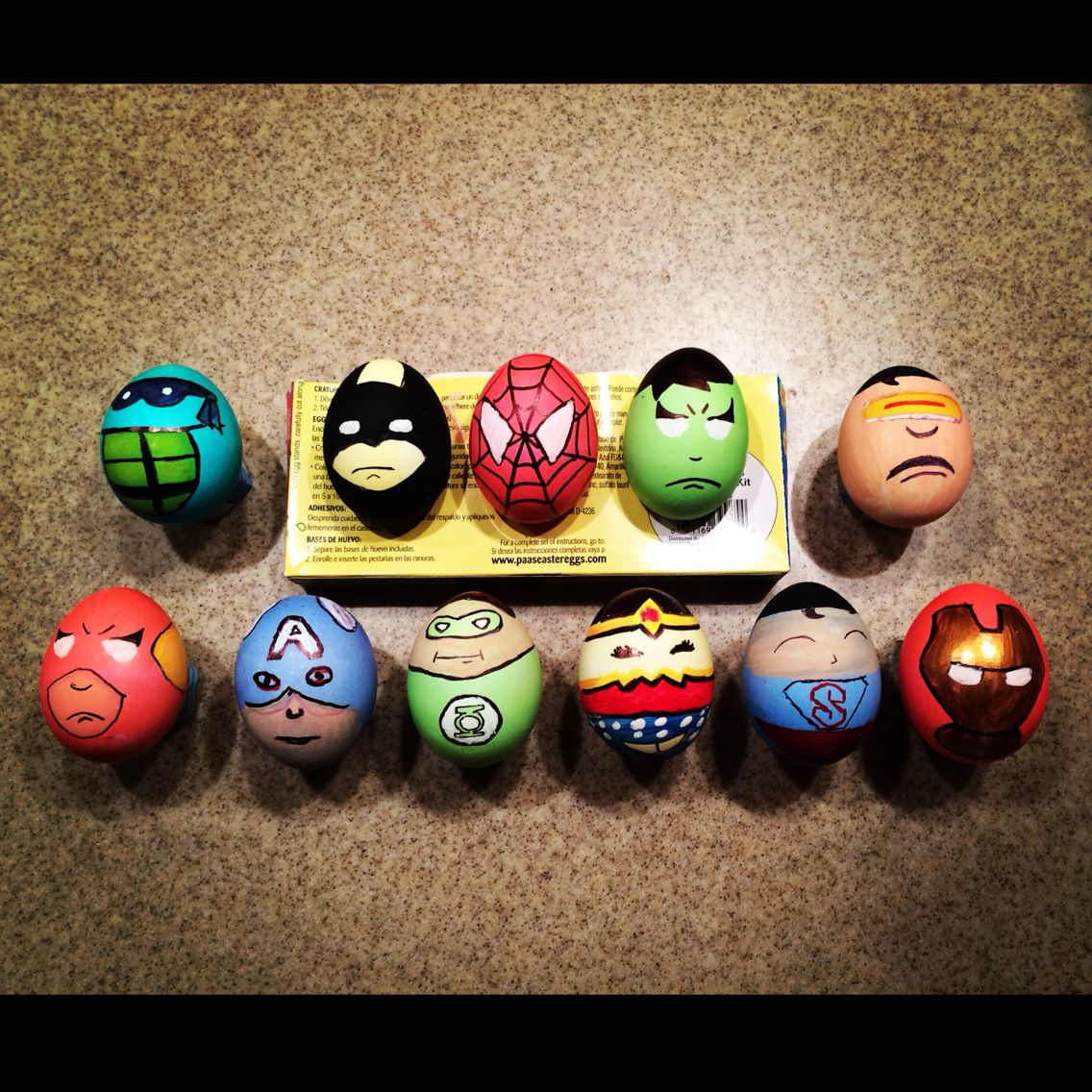 Superhero eggs (With images) | Easter egg crafts, Easter ...