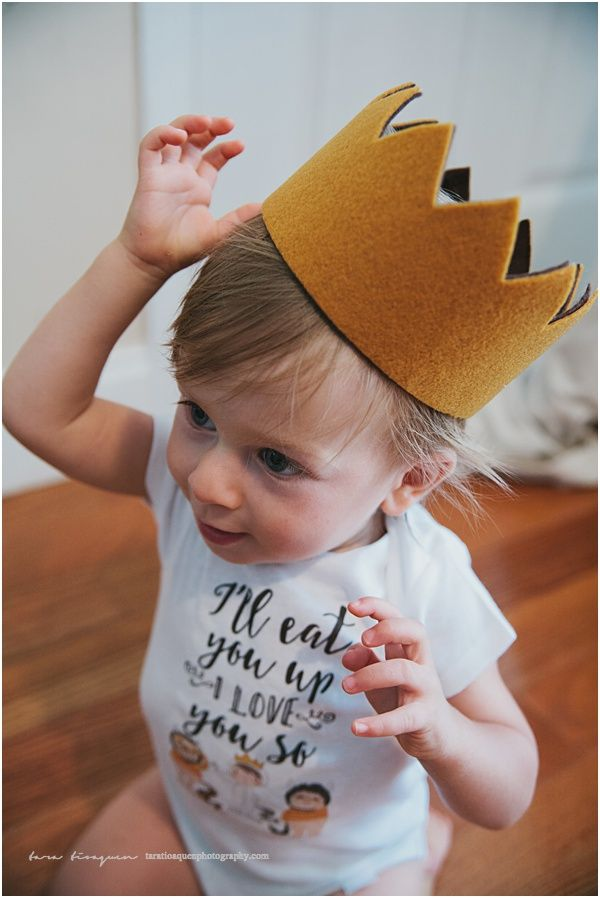 DIY Where The Wild Things Are Crown First Birthday Baby Boy 1st