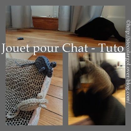 souris au crochet jouet pour chat tuto chat pinterest jouets pour chats souris et le crochet. Black Bedroom Furniture Sets. Home Design Ideas