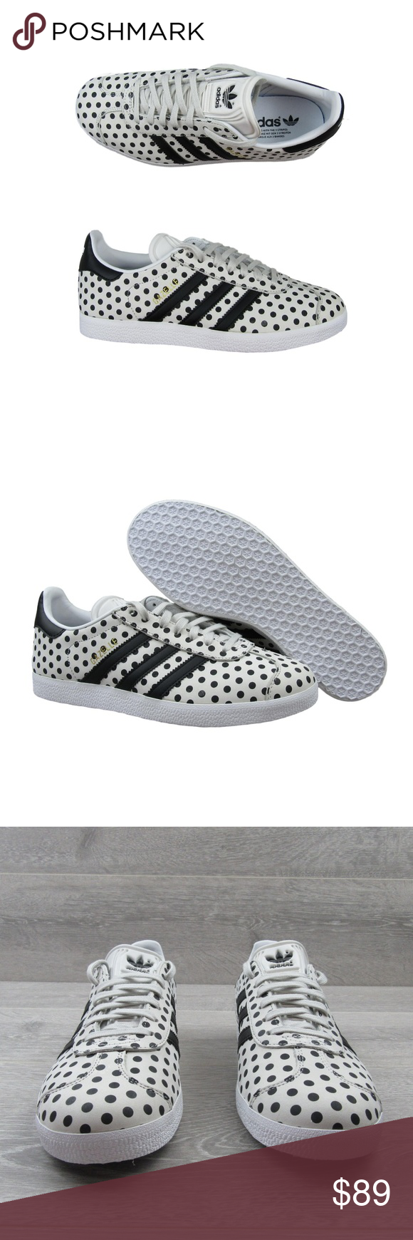 buy online 69843 ff6ce Adidas X The Farm Gazelle Polka Dot Shoes Womens PRICE IS FIRM - NO TRADES  OR OFFERS - Thank You Adidas X The Farm Gazelle Polka Dot Shoes Womens  Multi ...