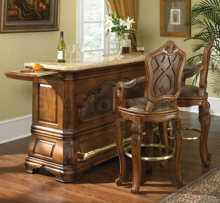Bar Table Sets For Sale: Tuscano Tuscano Bar Set With Marble Top (Table And 2