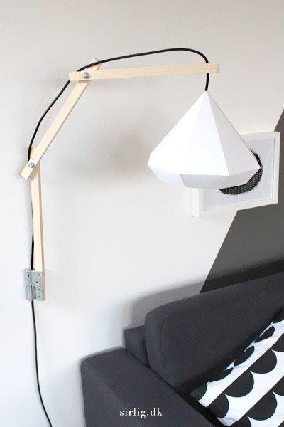 Væglampe // sæt til DIY-lampe