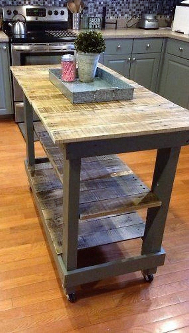 Kitchen island pallet wood - Diy Reclaimed Pallet Wood Furniture Ideas Pallets Platform Pallet Islandpallet Kitchen