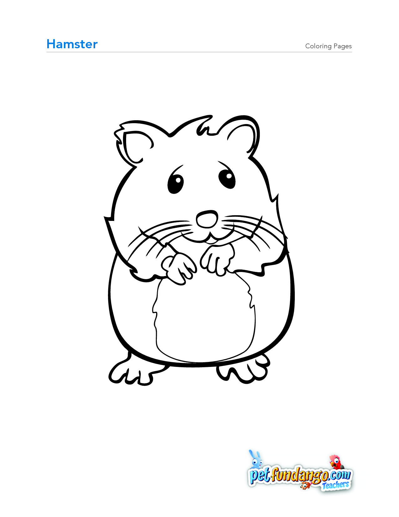 Hamster Coloring Page OSOB Pinterest Preschool farm Pet theme
