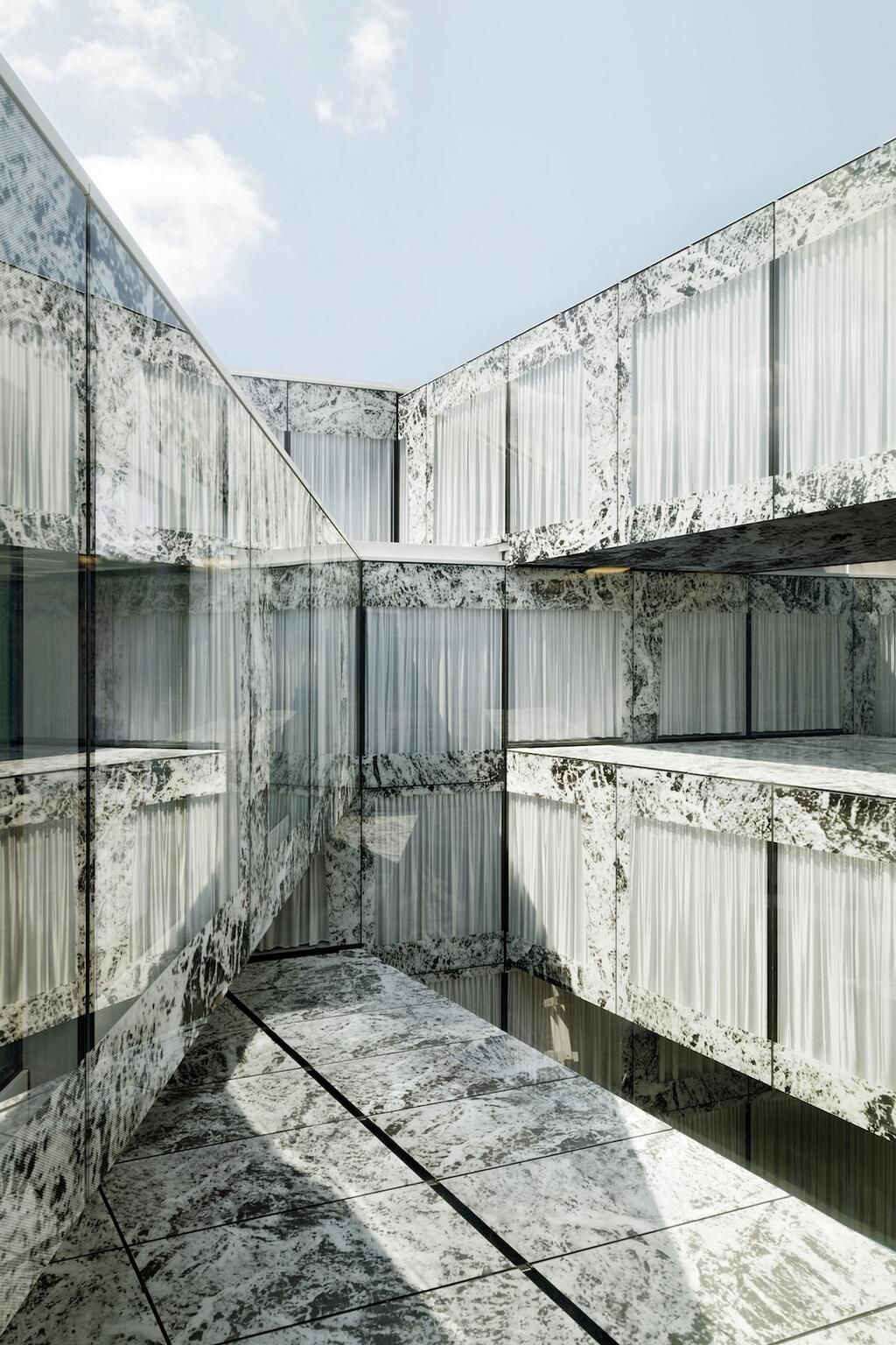 Mies' Barcelona Pavilion Gets Remixed in Zurich by @WielArets: http://bit.ly/1fjsfyX pic.twitter.com/prR7MzJoCn