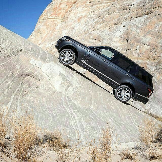 There's no such thing as an uphill struggle in a #rangerover