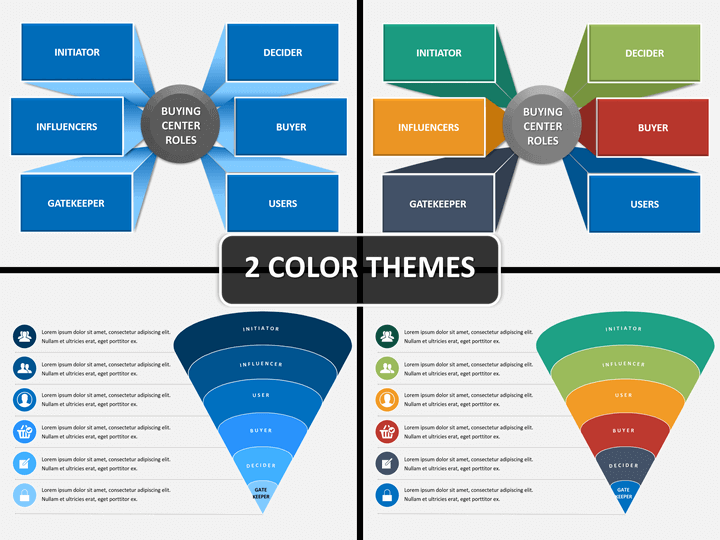 Six Roles Of Buying Powerpoint Template Powerpoint Templates