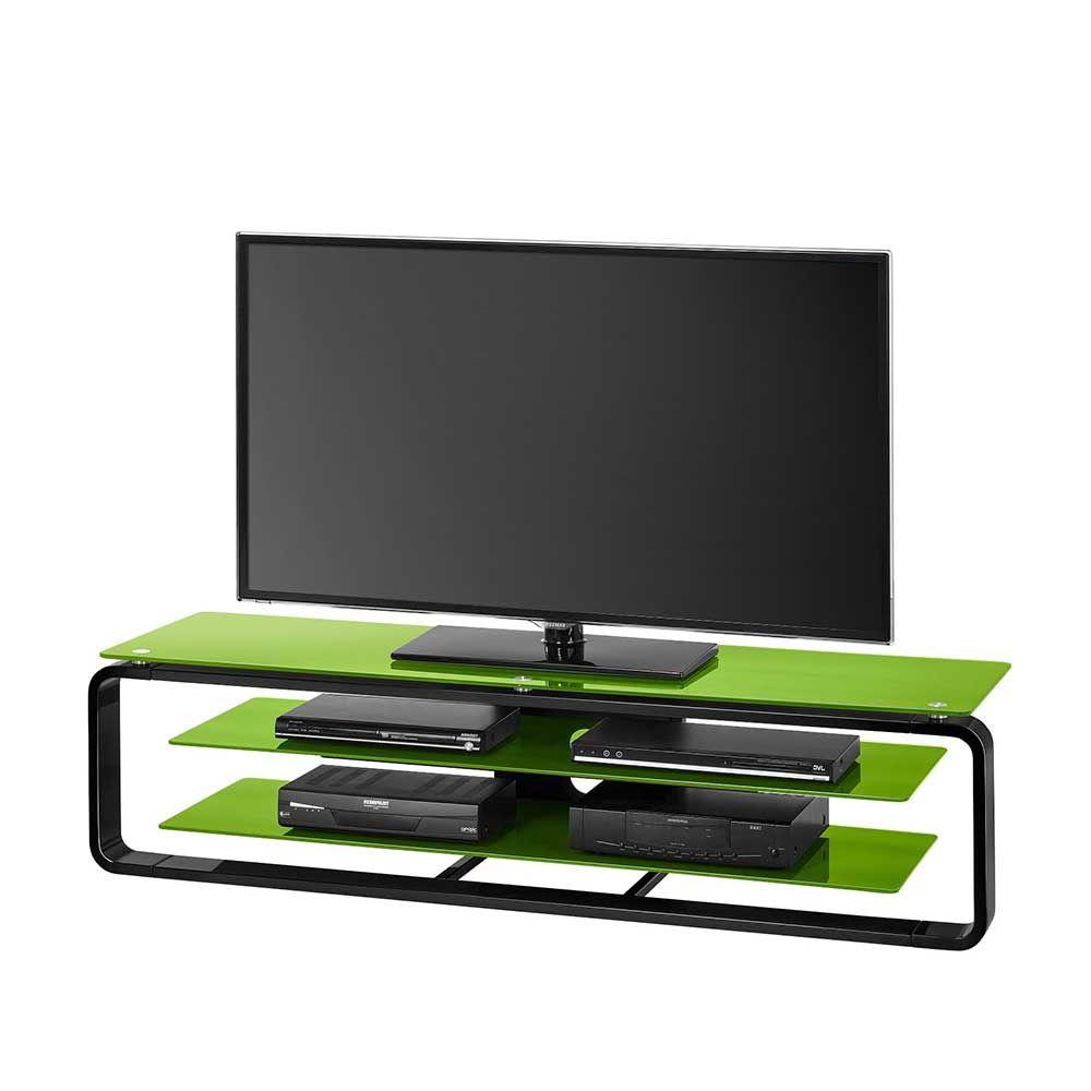 Glas TV Rack in Grün Schwarz Beleuchtung Jetzt bestellen unter ...