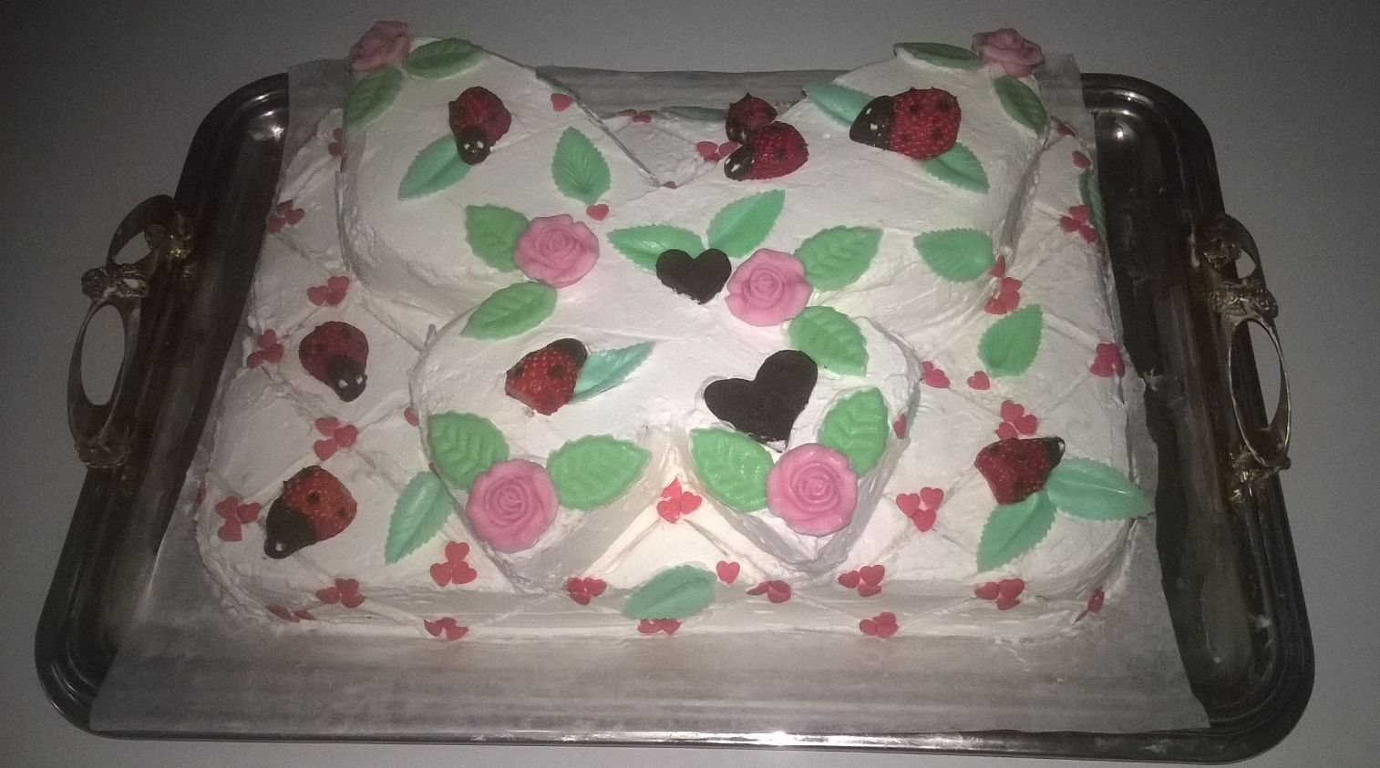 Butterfly Strawberry Cake