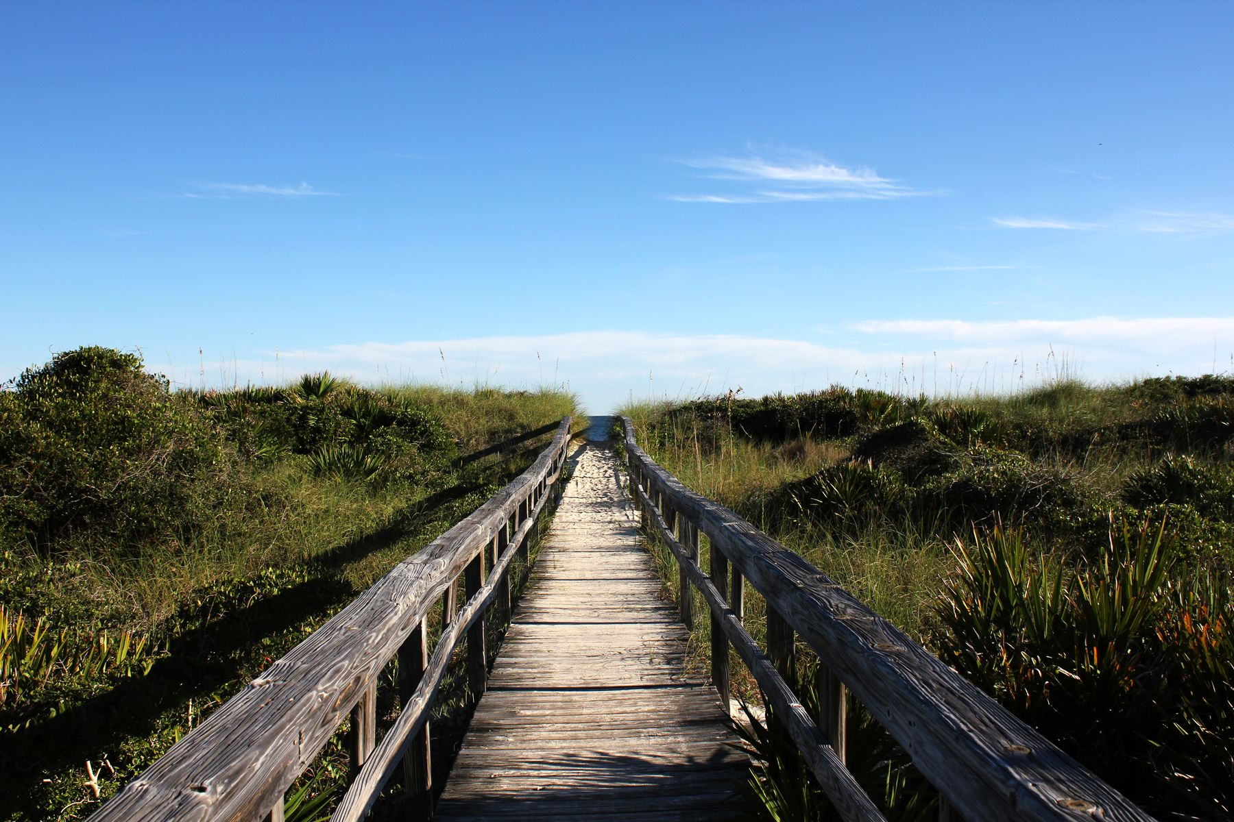 boardwalk to beach at Sike's Cut in the St.