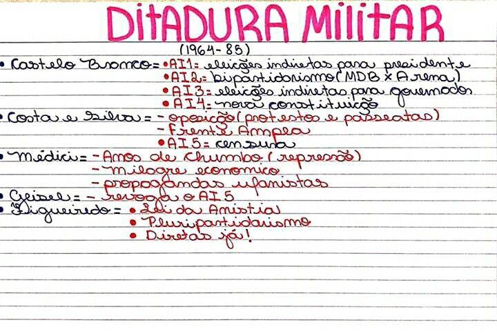 Resumo De Historia Do Brasil Ditadura Militar Ditadura Militar Resumo Ditadura Militar Brasil Ditadura Militar