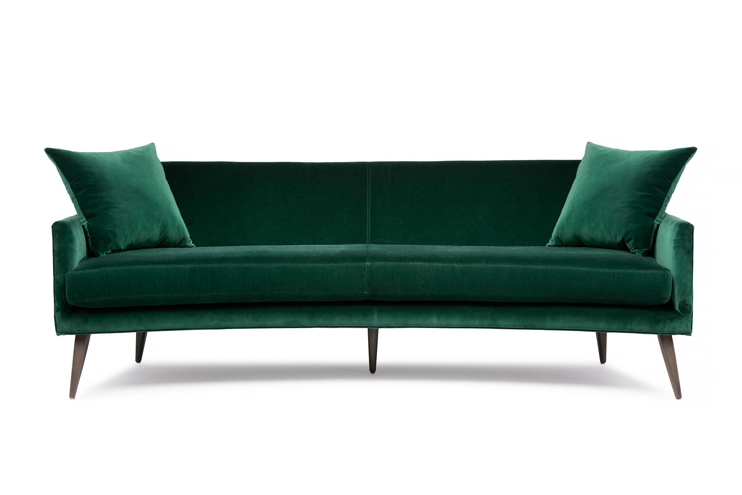 Stanley Sofa by Arthur G Bottle Green Velvet