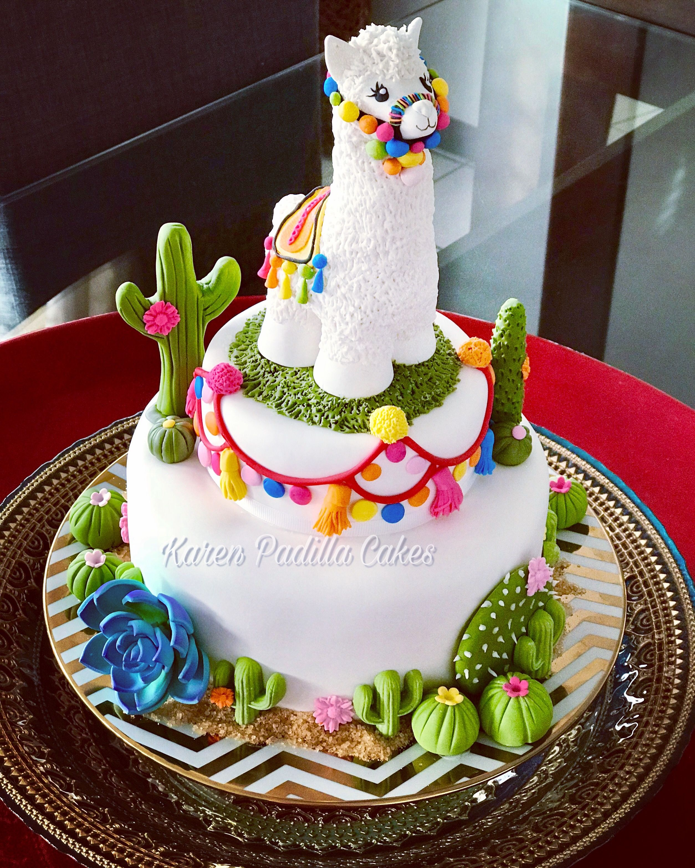 Best 25 Baby Llama Ideas On Pinterest: Llama Theme Cake By Karen Padilla©️