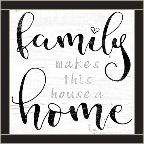 , Framed Wood Sign – Family Makes This House A Home..- 12×12, Family Blog 2020, Family Blog 2020