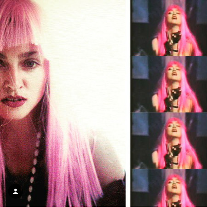 Madonna 1980s madonna, Madonna, Pink wig