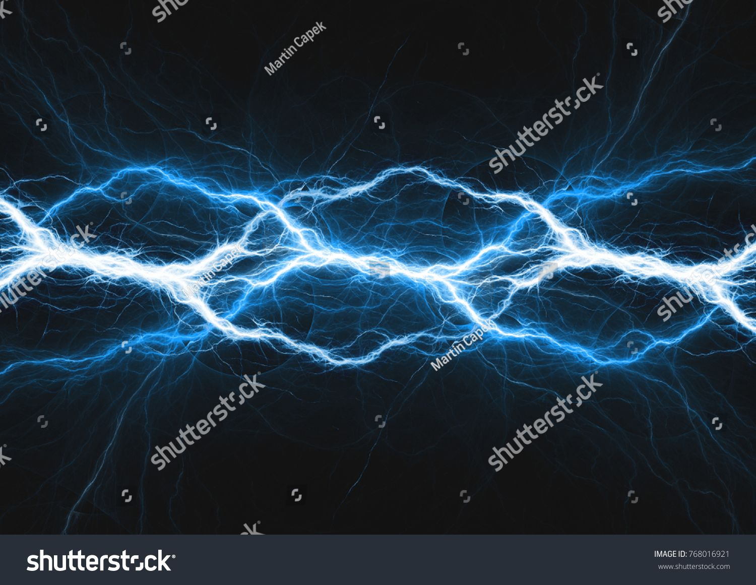 Blue Lightning Abstract Electrical Background Lightning