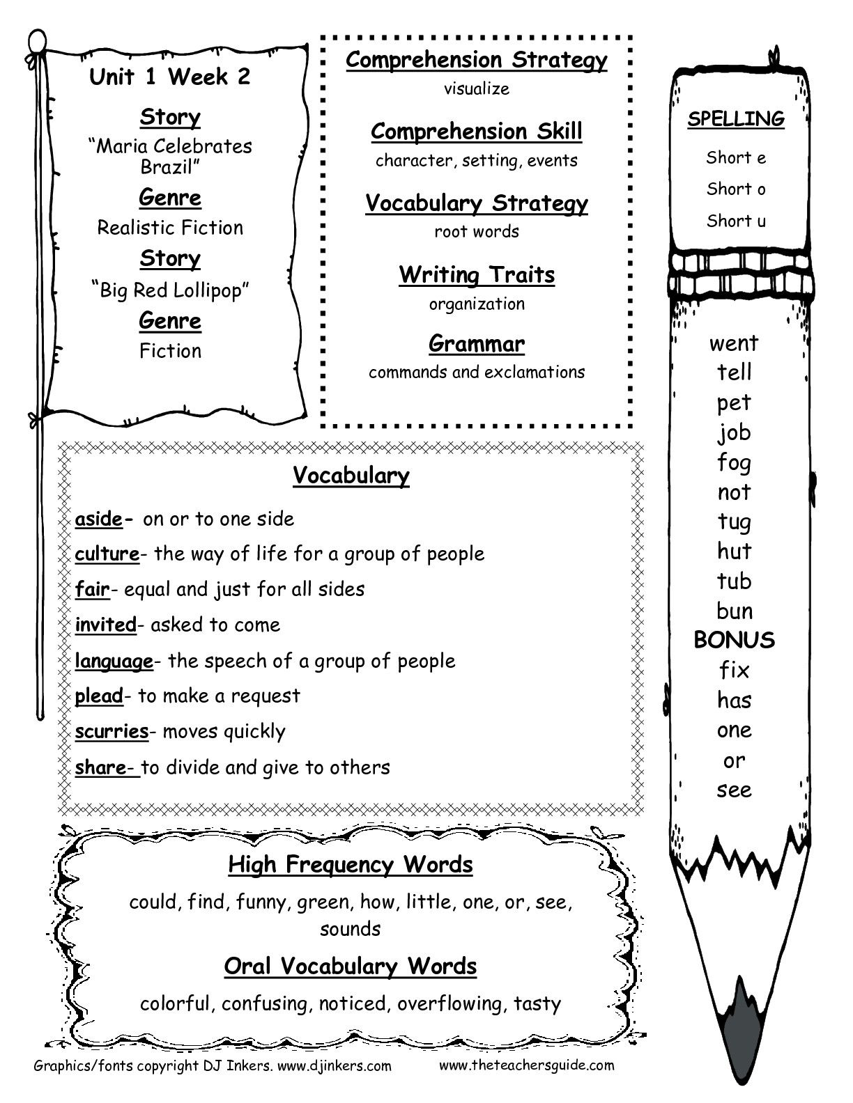 Worksheets Character And Setting Worksheets mcgraw hill wonders second grade resources and printouts lilians printouts