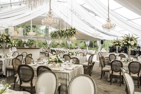 Romantic Garden Wedding With White Green Motif In Cincinnati