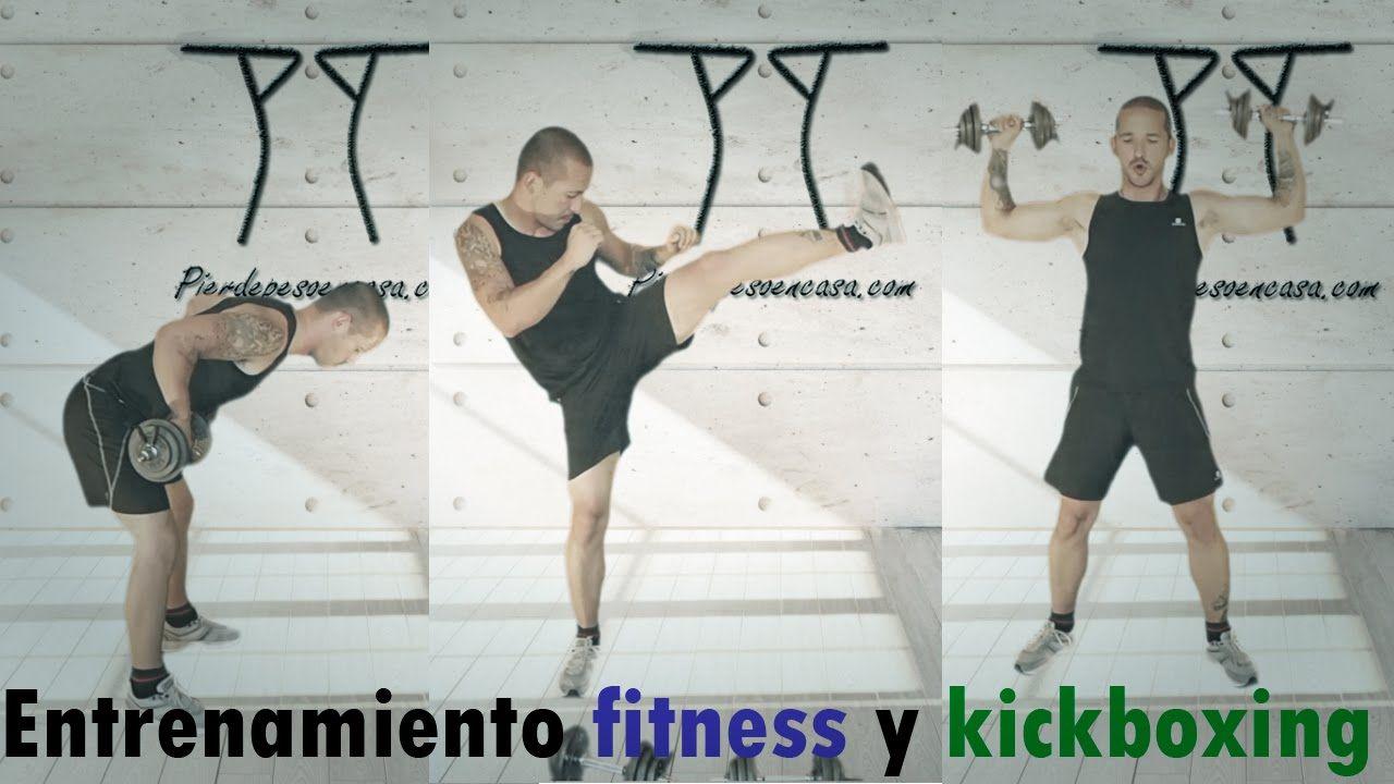 Entrenamiento  fitness y kickboxing para adelgazar y tonificar.
