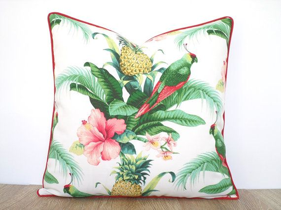 Tropical outdoor pillow cover 20x20