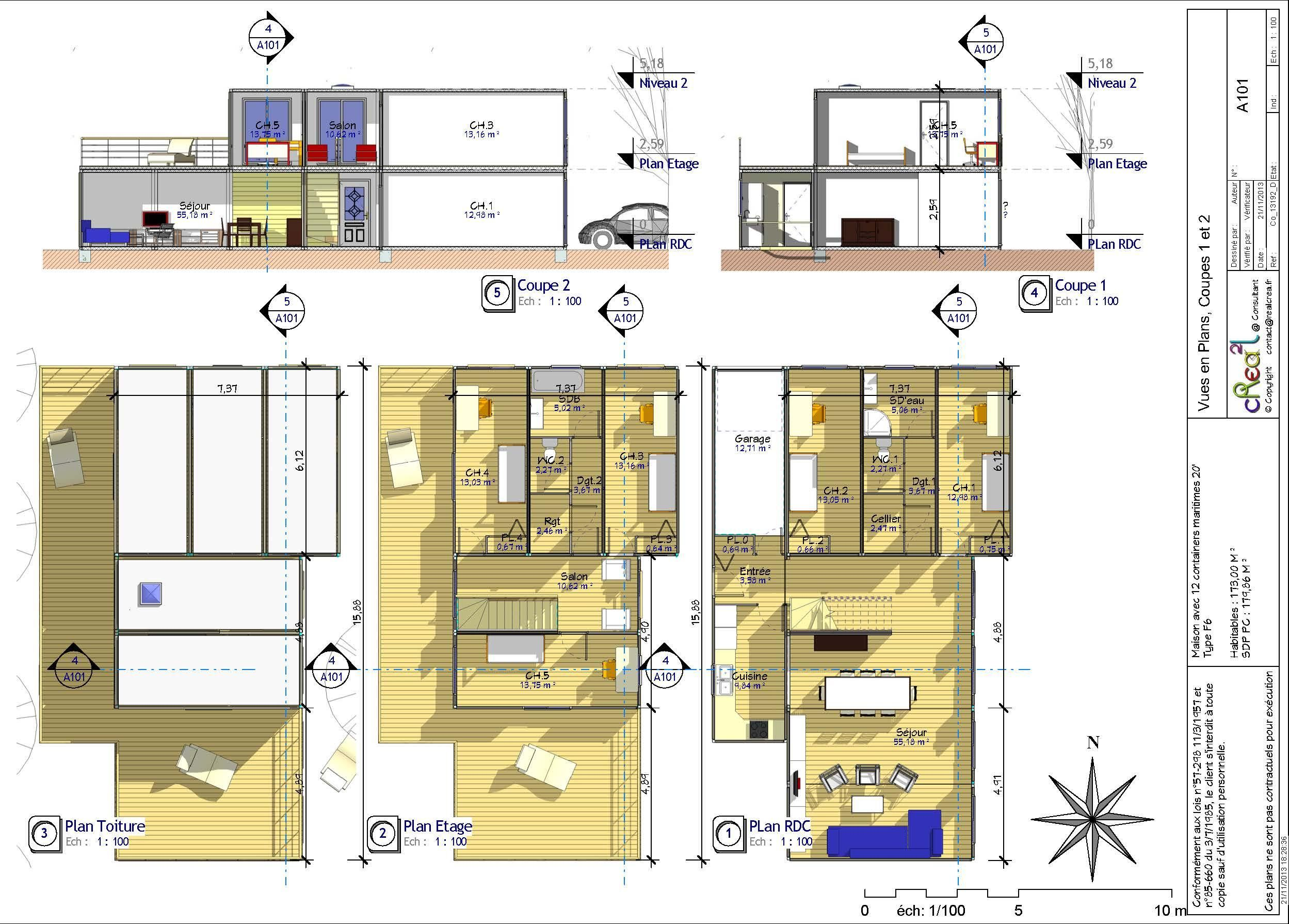 9 Plan Maison Container  Floor plans, Good company, How to plan