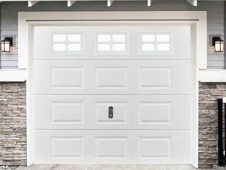 Porte De Garage Sectionnelle à Cassette Speos Blanche Avec