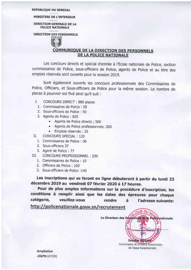 Concours D Entre A L Ecole Nationale De Police Session 2019 2020 Groupe Info Etudes Ecole Nationale Police Officier De Police