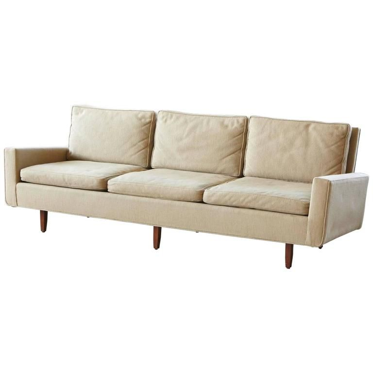 Early Florence Knoll Sofa Model 26d From 1967 With Original