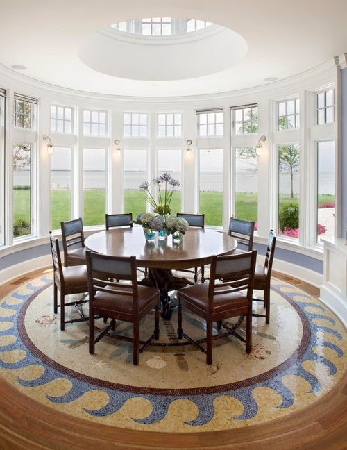 Seaside Dining Room, Delaware. (Bruce Palmer Coastal Design)