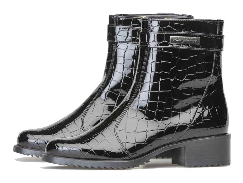 Pertti Palmroth ankle boot patent croco | pertti palmroth