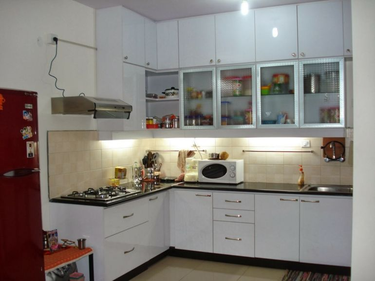 cocinas pequeas en forma de l modernas muebles