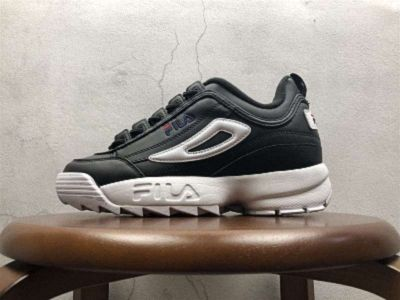 Mens Womens Fila Disruptor II Synthetic Black White Red FW01655-011 ... 19dbd9af8