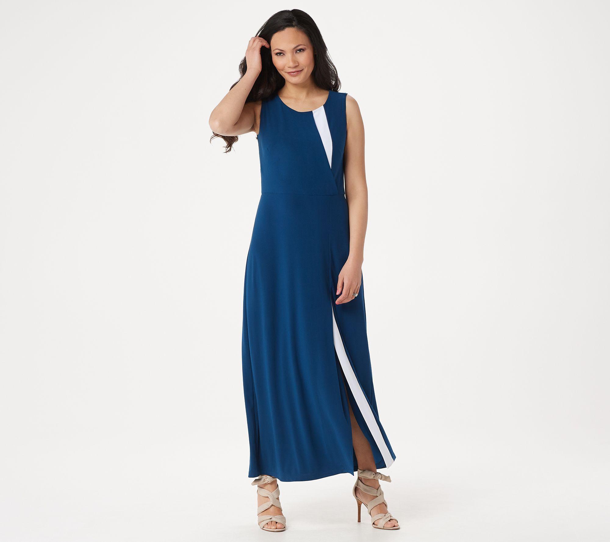 Dennis Basso Regular Sleeveless Caviar Crepe Maxi Dress Qvc Com Silk Dress Long Dresses Silk Maxi Dress [ 1778 x 2000 Pixel ]