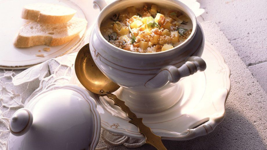 Rezept: Graupen-Eintopf mit Kartoffeln