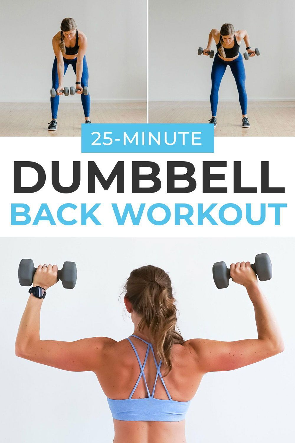 Get a strong, sculpted back with this guided BACK WORKOUT FOR WOMEN! All you need is a set of dumbbells! Follow along with personal trainer Lindsey through 8 of the best back exercises you can do at home! #backworkoutsforwomen #backworkout #backexercises
