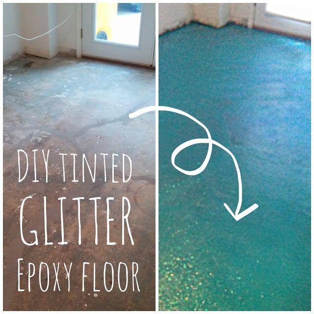 Diy Turquoise Glitter Epoxy Floor Epoxy Floor Diy Epoxy Floor Diy Flooring