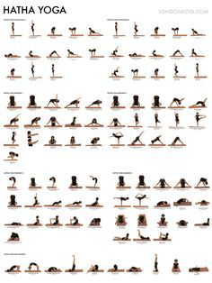1000 Ideas About Yoga Poses Chart Bikram Core Printable Hatha