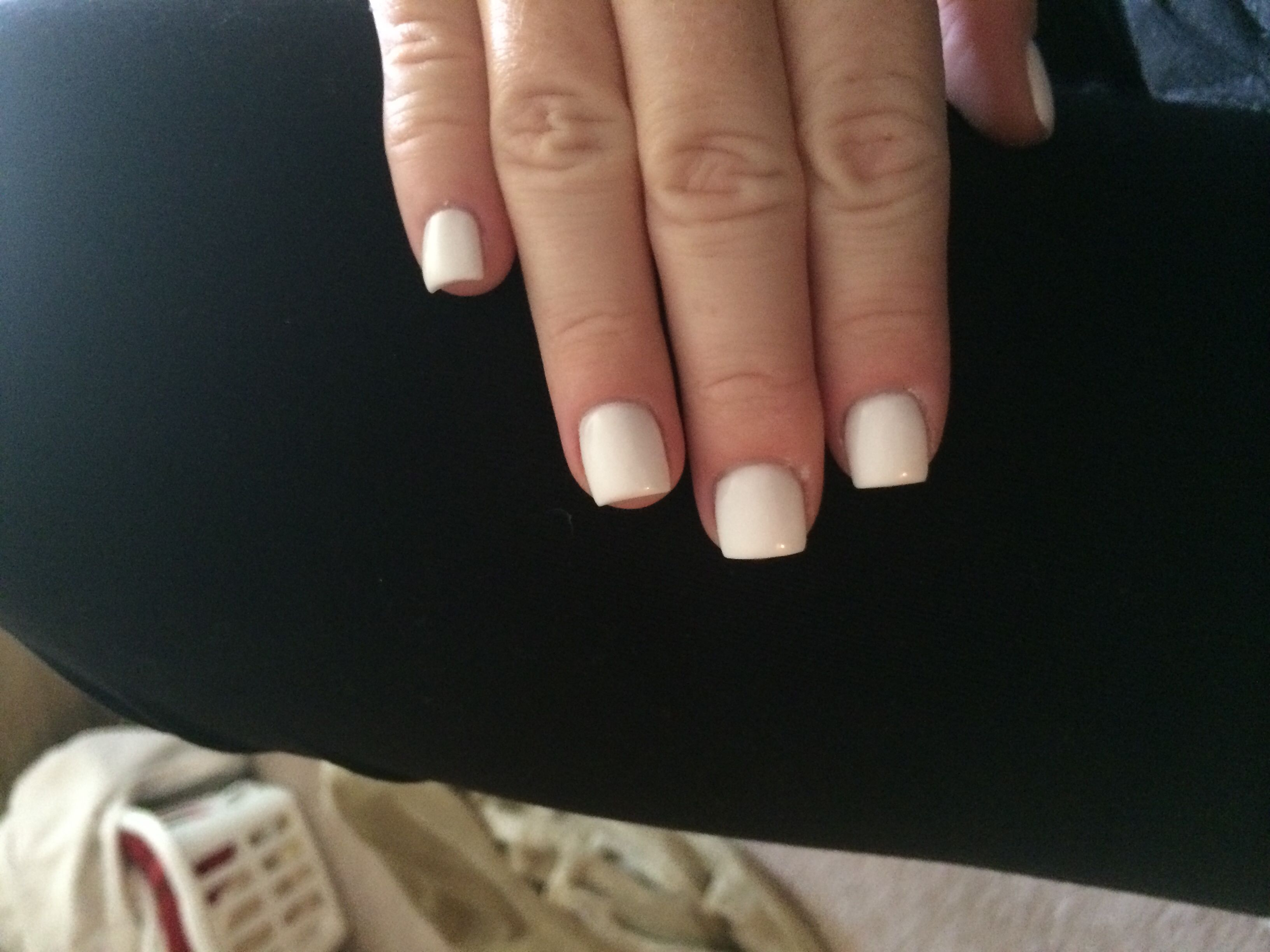Simple, white, super short acrylic. | Nailed it! | Pinterest | Short ...