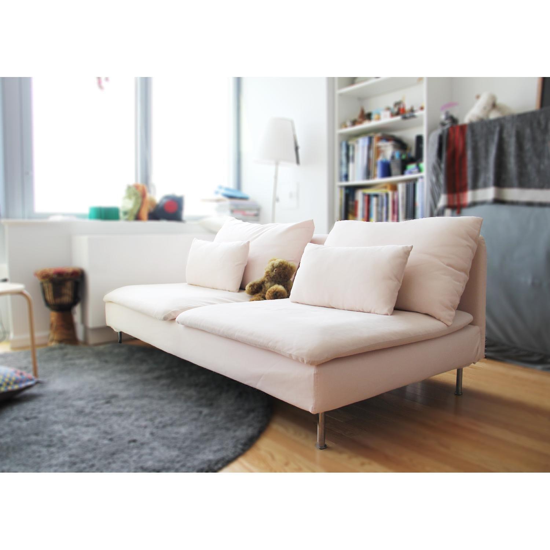 Light Pink Fabric Sofa